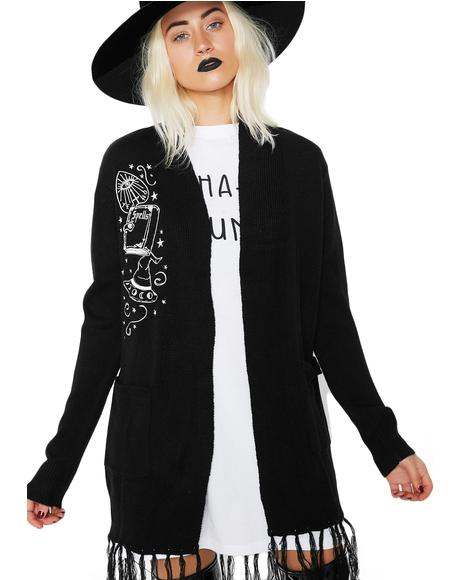 Queen Of The Coven Fringe Cardigan