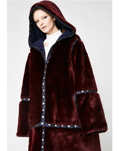 FENTY PUMA By Rihanna Faux Shearling/Fur Snap Coat