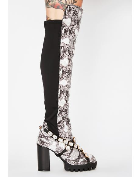 Wild Vipers Snakeskin Boots