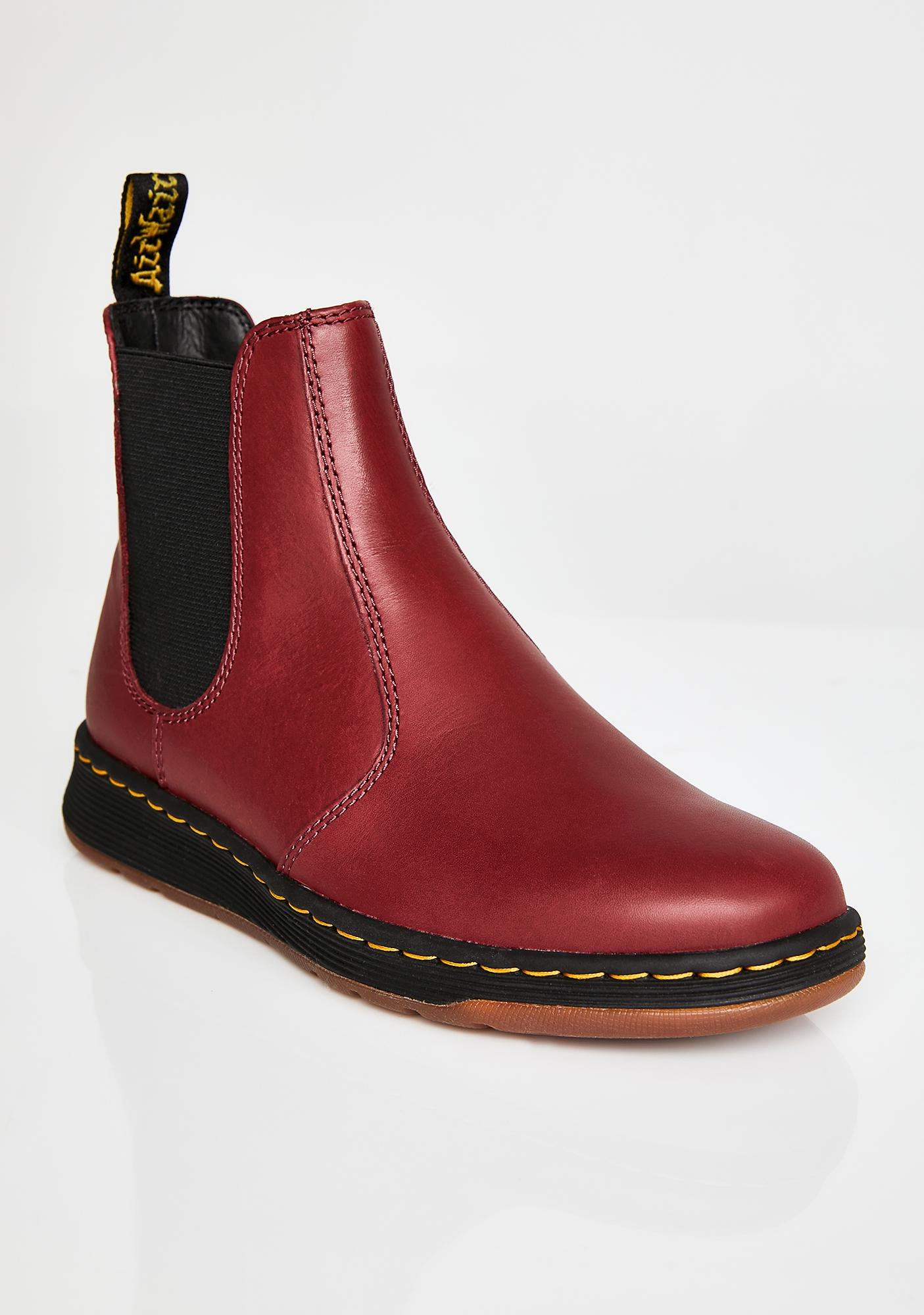 Dr. Martens Cherry Red Grayson Boots