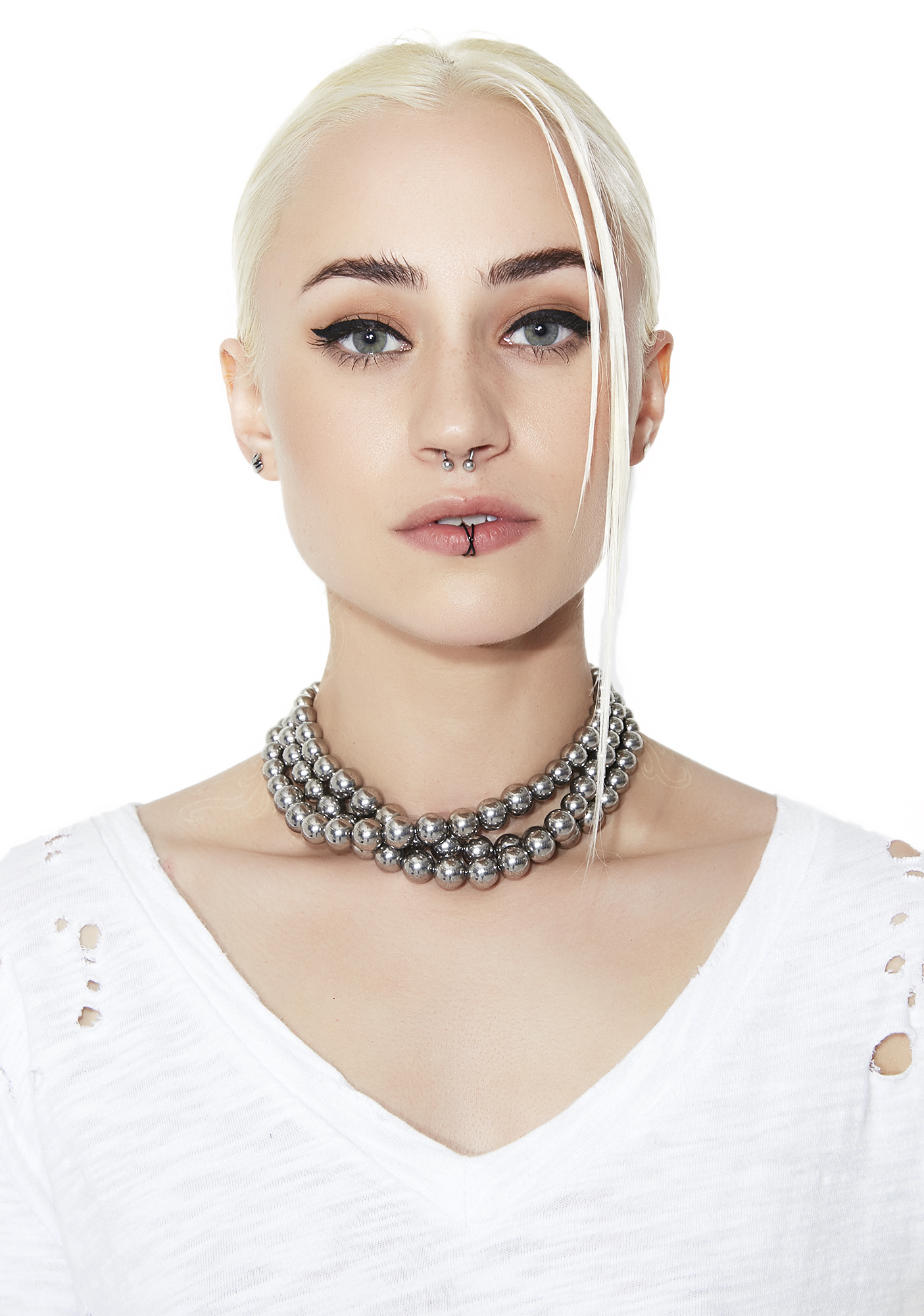 Layered Ball & Chain Choker