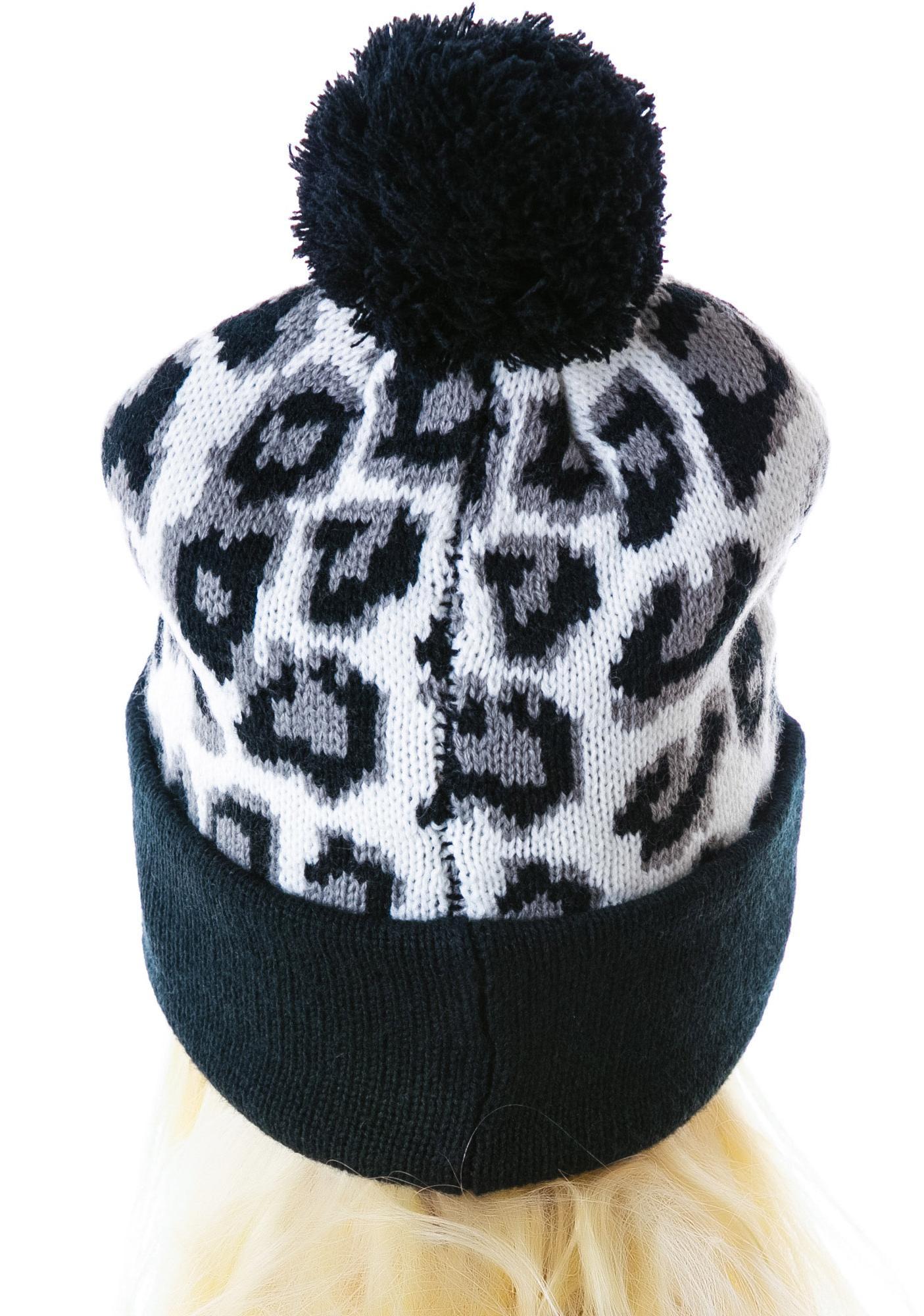 Joyrich Candy Leopard Knit Beanie