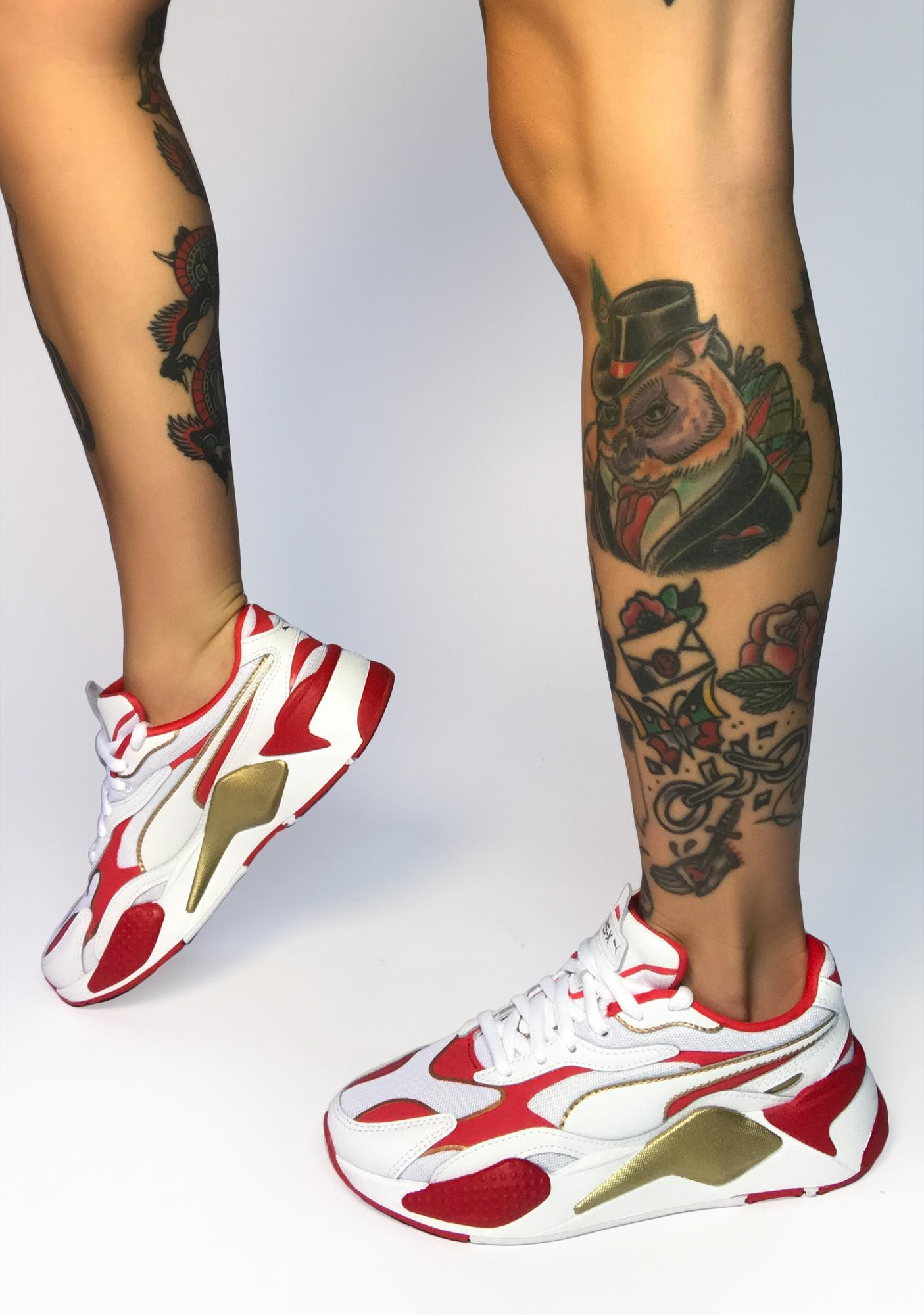 PUMA Red Varsity RS-X3 Sneakers