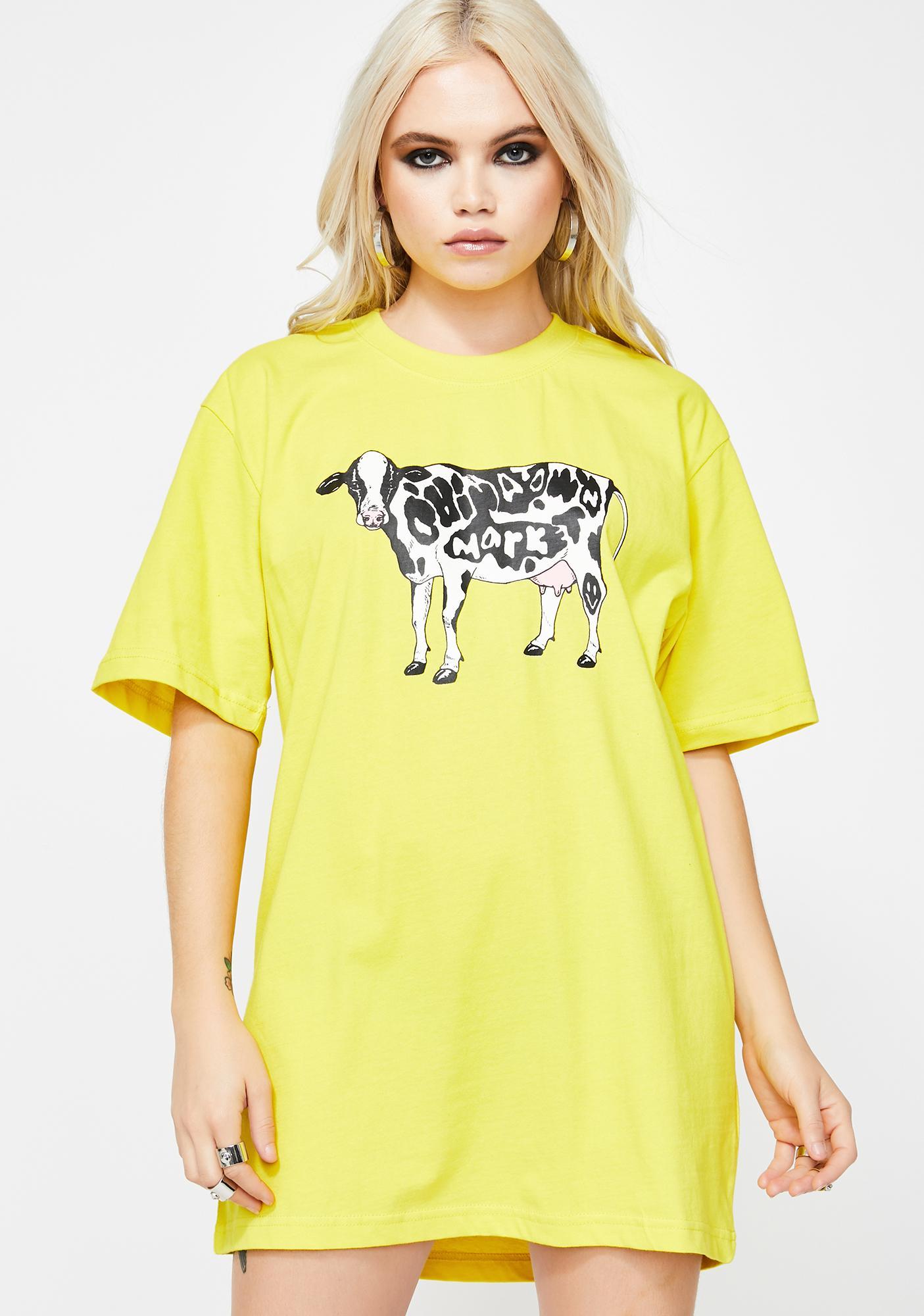 CHINATOWN MARKET Cow Graphic Tee