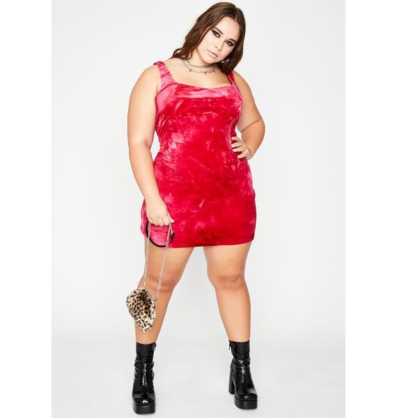 Love Her Ruthless Temptations Velvet Dress