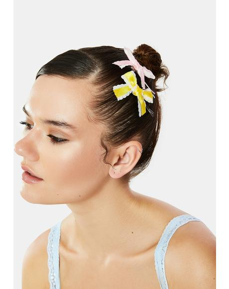 Pure Beauty Bow Hair Clip Set