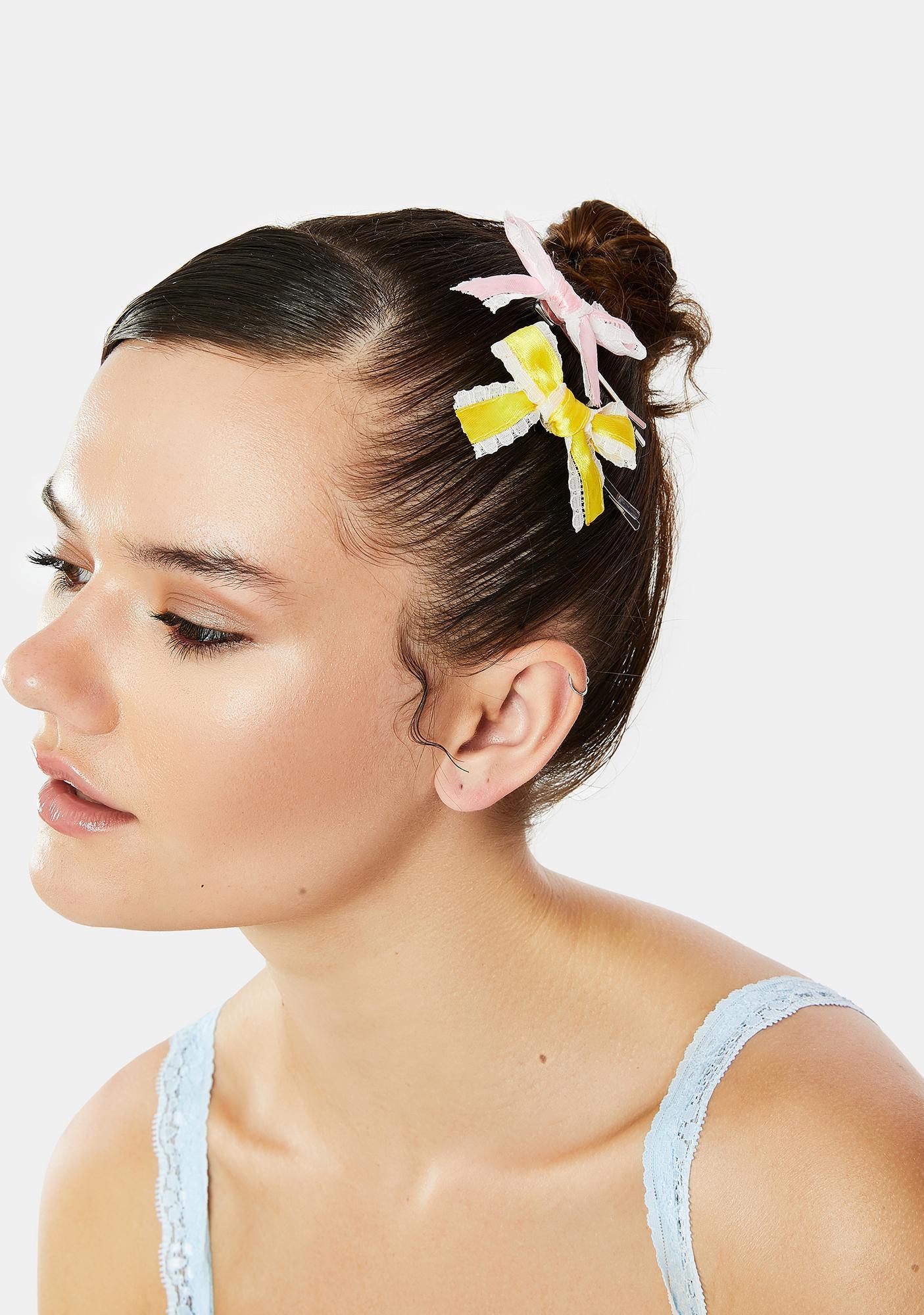 Pure Beauty Bow Hair Clip Set