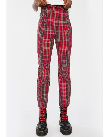 Ebony Tapered Plaid Pants