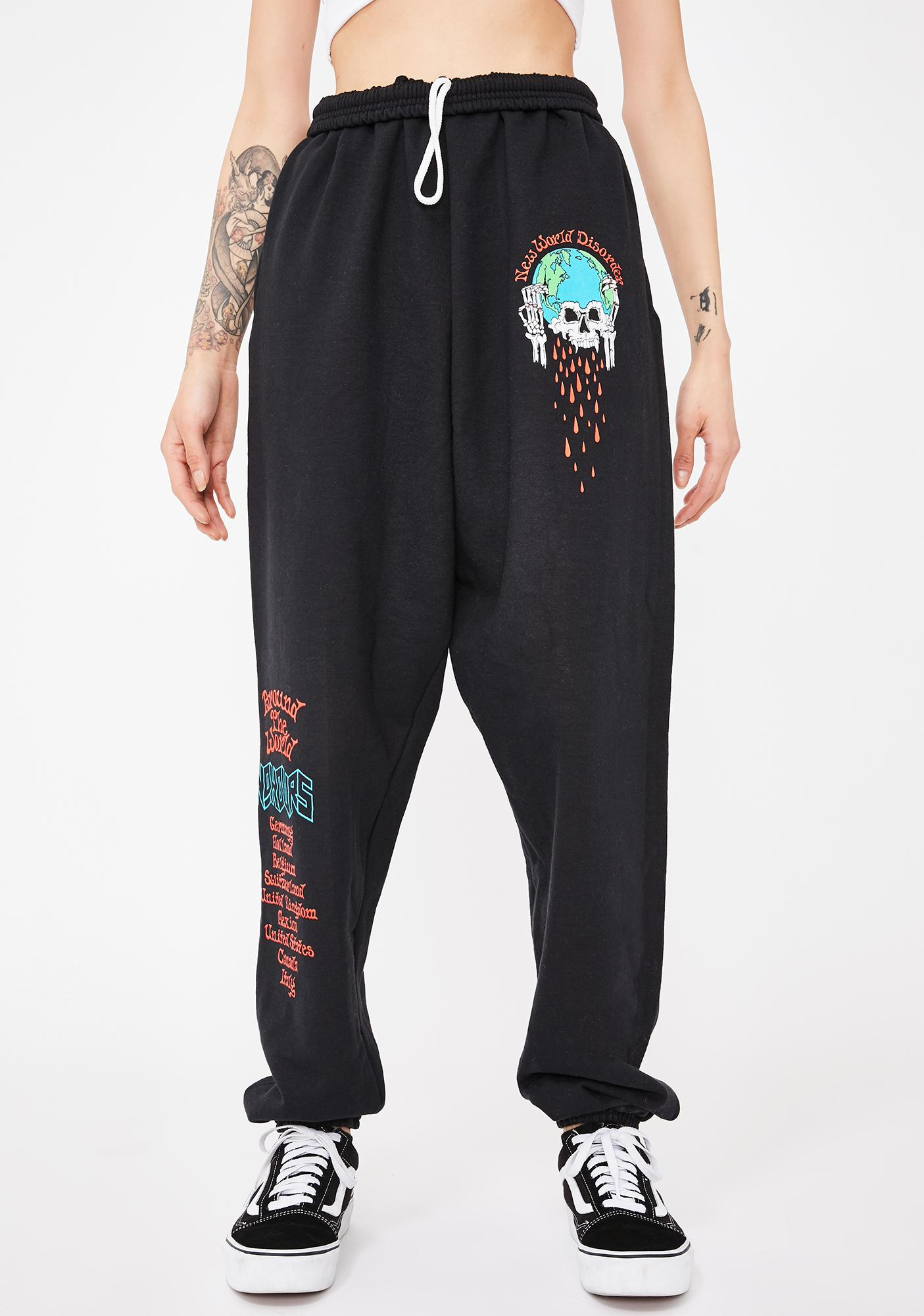 No Hours New World Graphic Sweatpants