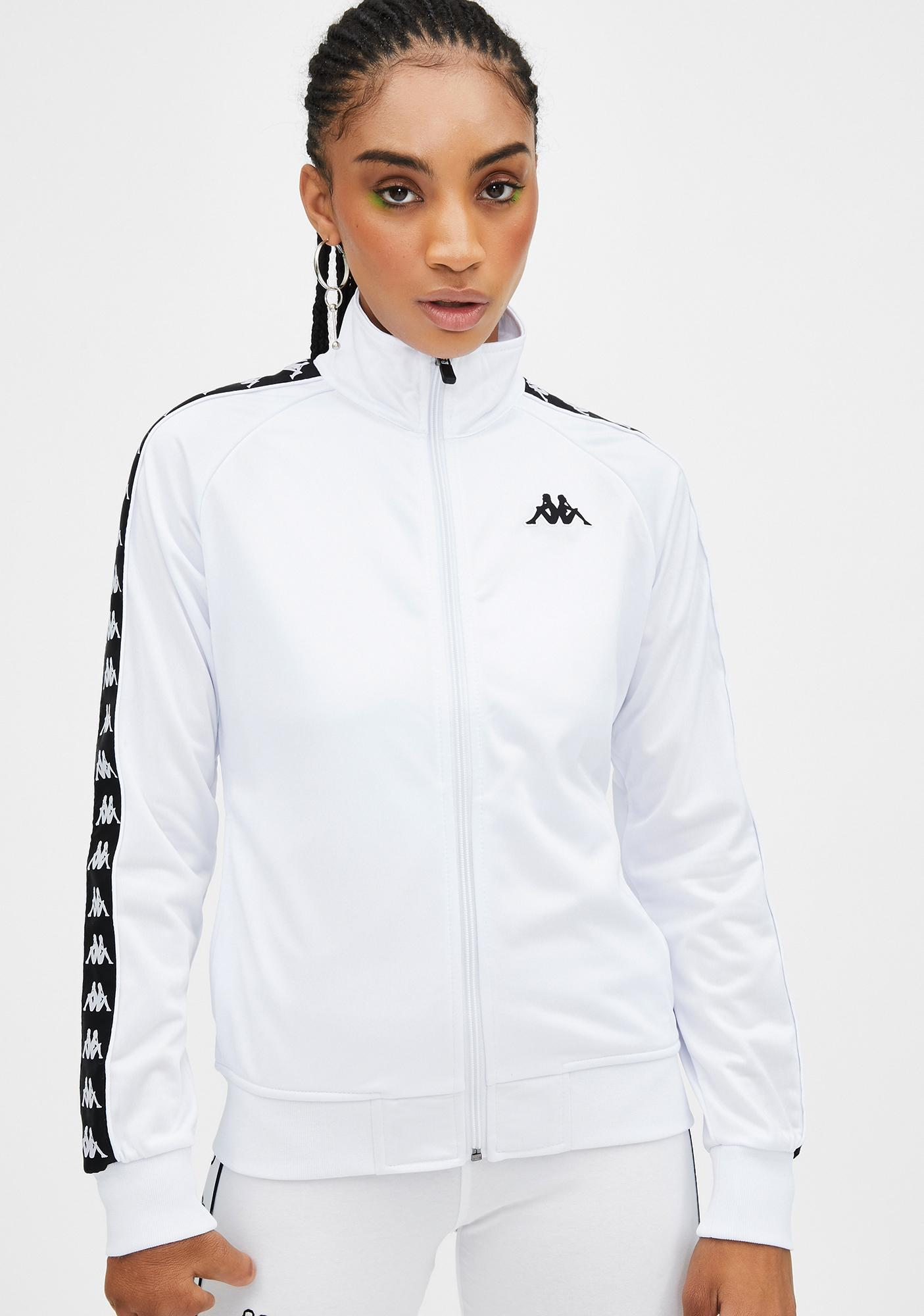 Kappa White 222 Banda Wanniston Slim Jacket