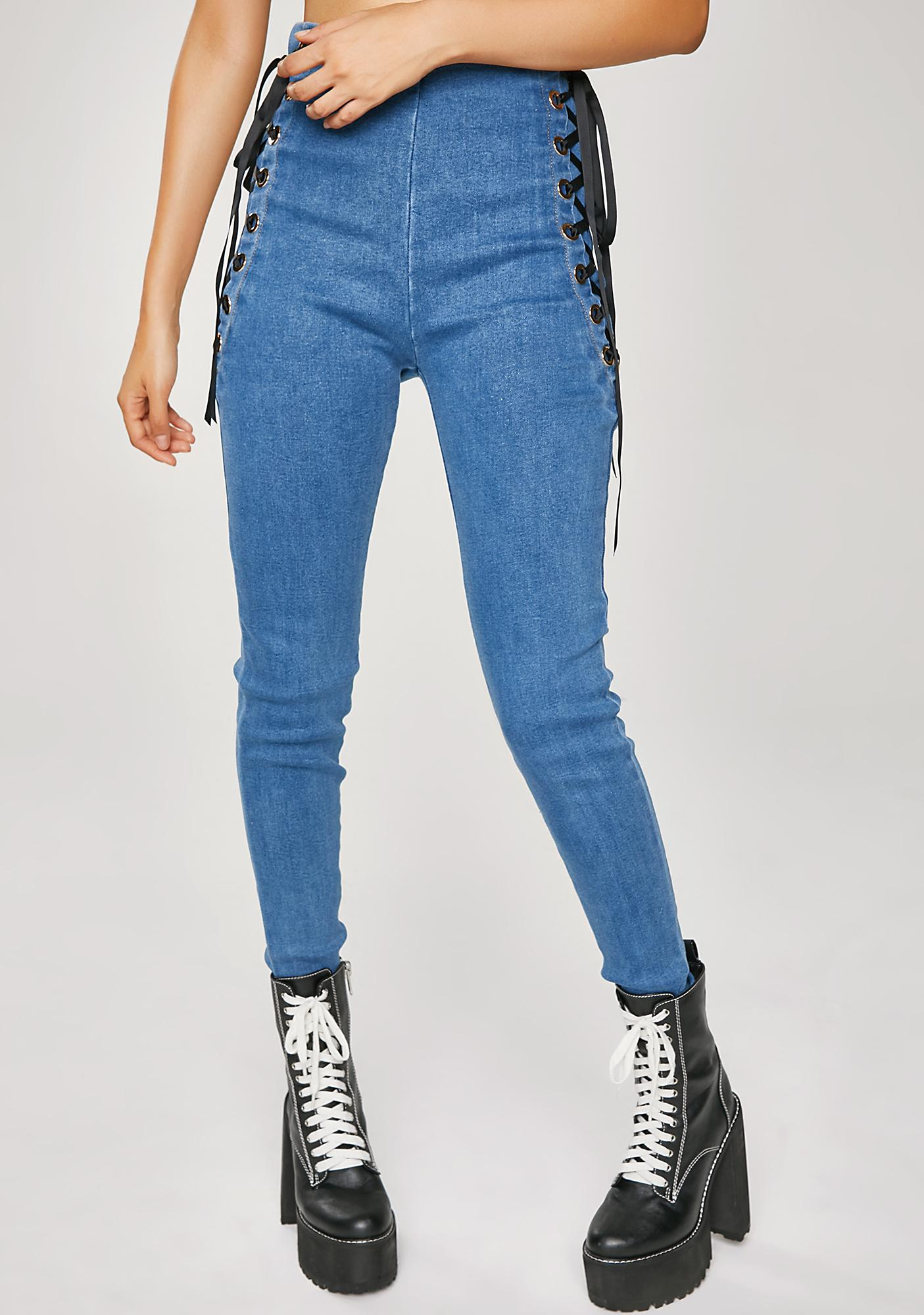 Even Better Lace-Up Jeans