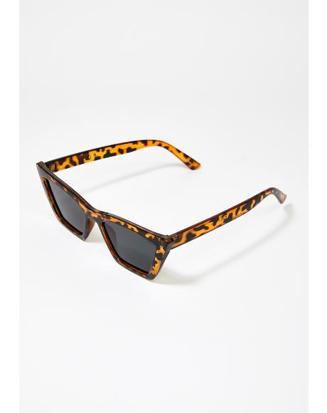 Tortoiseshell Rosey Cat Eye Sunglasses