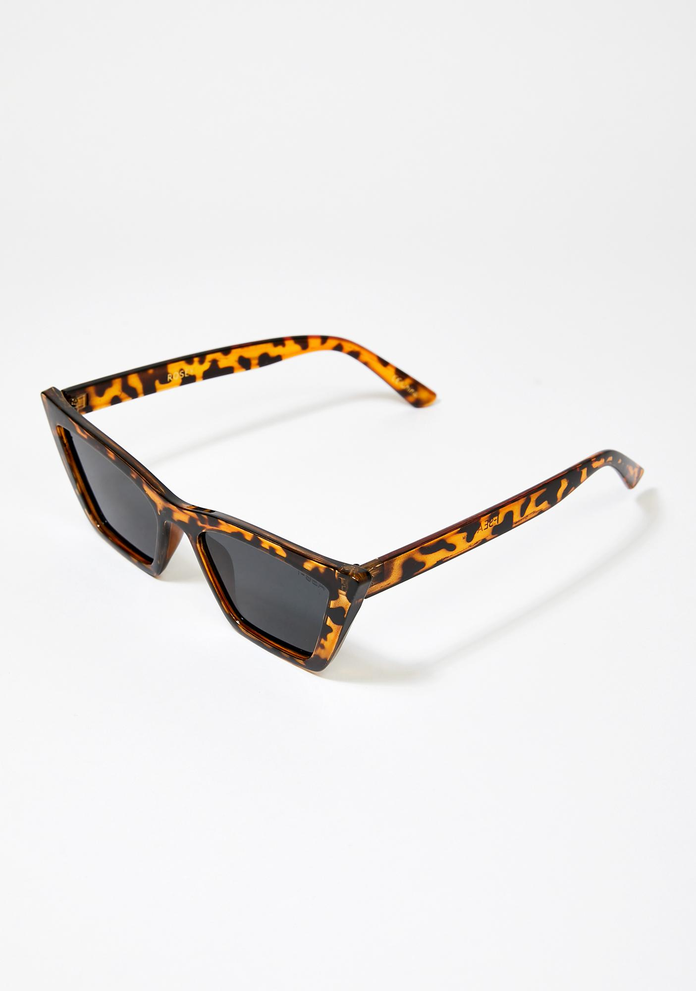 I-SEA Tortoiseshell Rosey Cat Eye Sunglasses