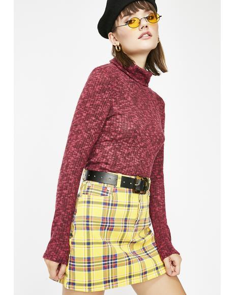Word Up Turtleneck Sweater