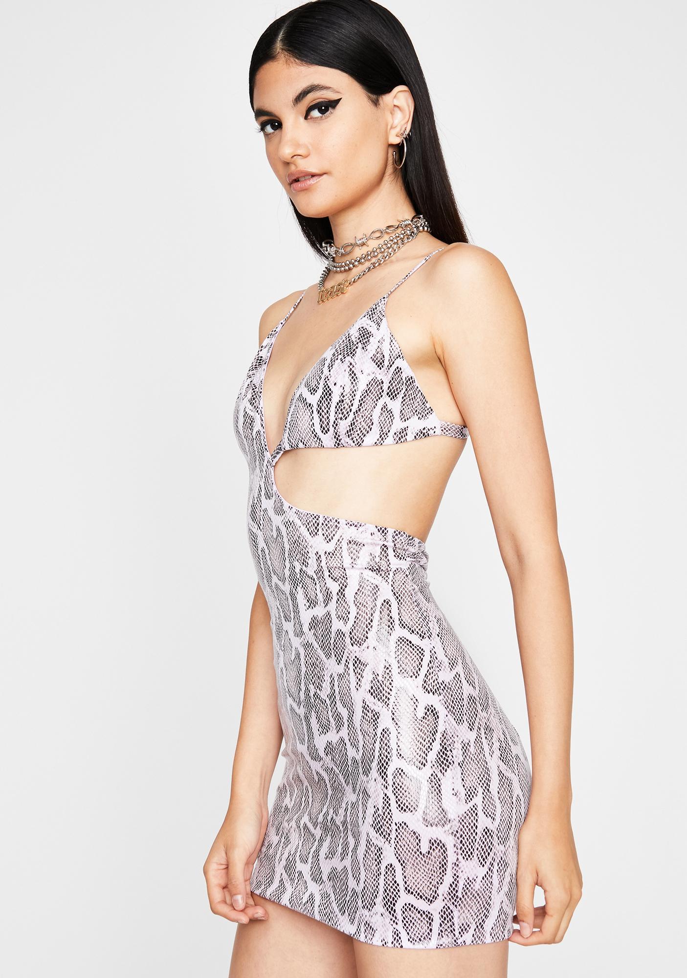 Taro Snake Siren Cut Out Dress