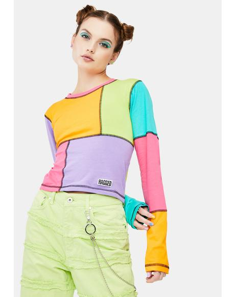 Mixer Colorblock Long Sleeve Tee