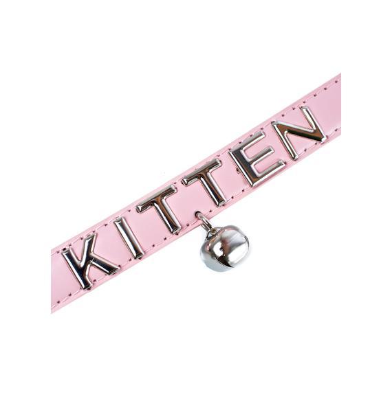 NecroLeather Beloved Kitten Bell Collar