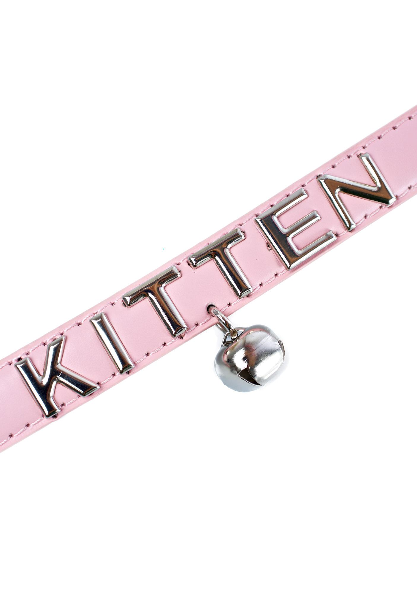 NecroLeather Beloved Kitten Bell Collar