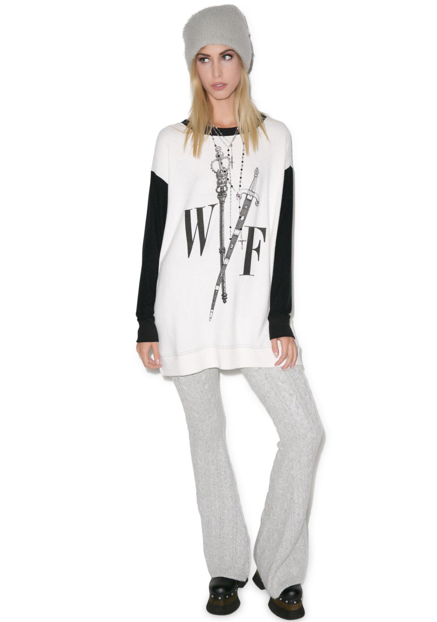 Wildfox Couture Queen's Court Roadtrip Sweater