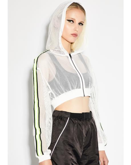 Icy Reflective Flexx Crop Jacket