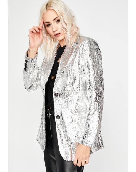 Proper Disco Metallic Blazer