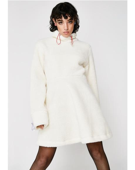 Sherpa Fleece Dress
