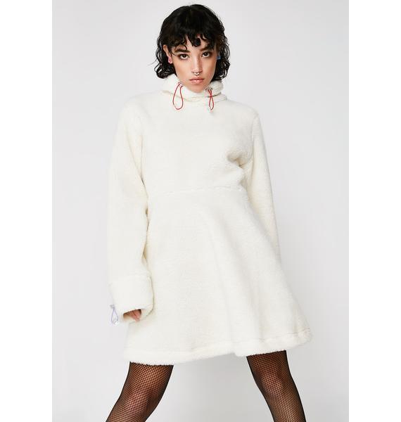 Somewhere Nowhere Sherpa Fleece Dress