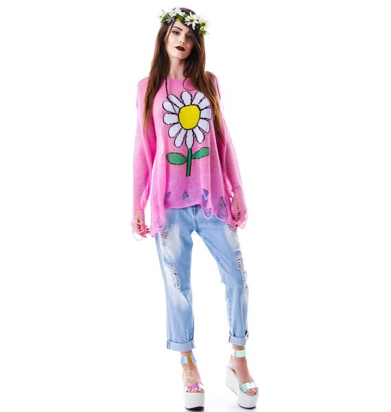 Wildfox Couture Oh Daisy Lenon Sweater