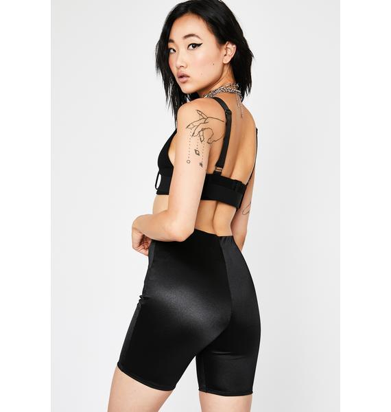 Night Lustful Limits Satin Shorts