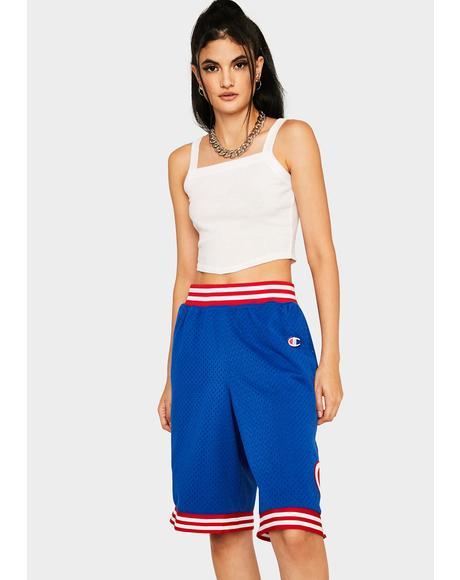 Blue Rec Mesh Shorts