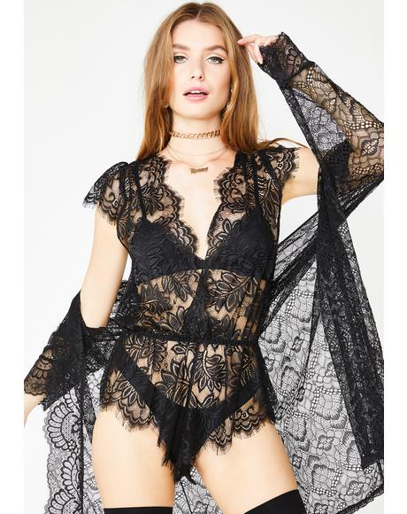 Sheer Temptation Lace Romper