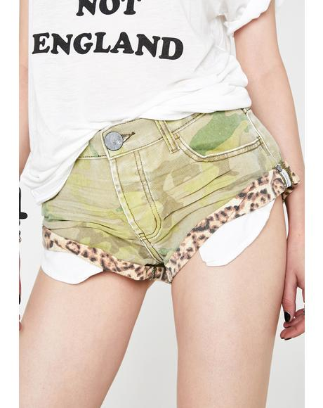 Safari Bandits Denim Shorts