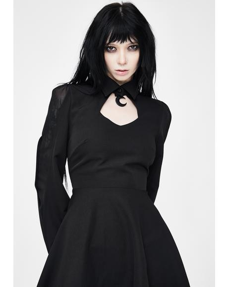 Moon Cut Out Mini Dress