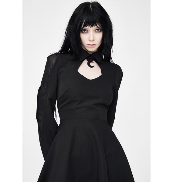 Punk Rave Moon Cut Out Mini Dress