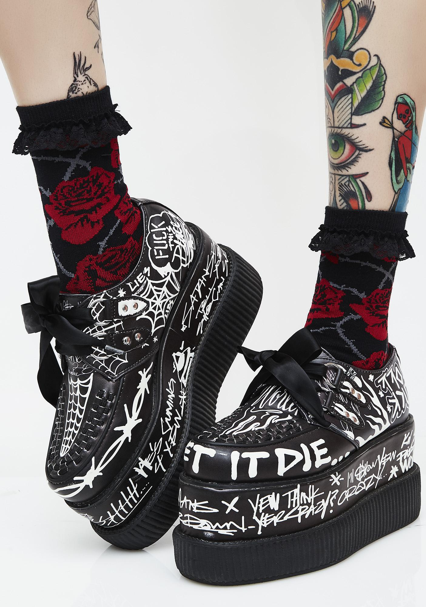 Killstar Eden Ankle Socks