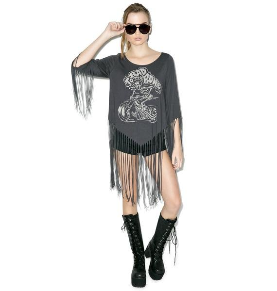 Bad To The Bone She Devil Fringe Top