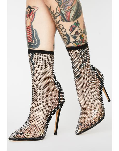 In Vain Fishnet Heels