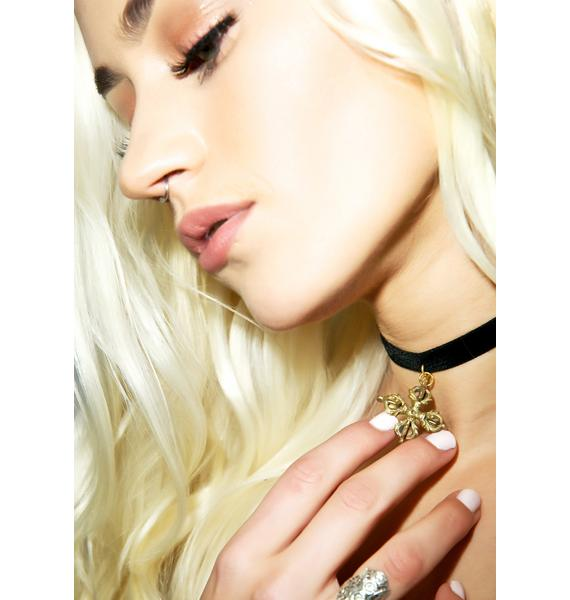 Vanessa Mooney Brass Cross Choker