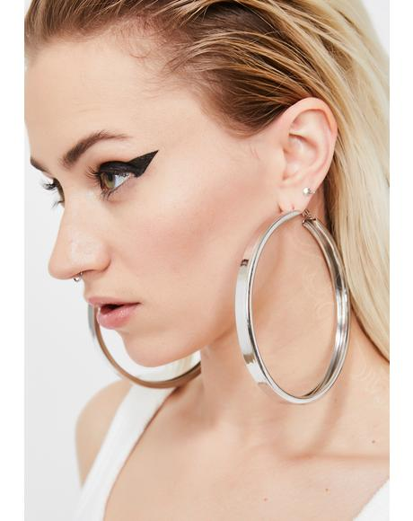 Big Attitude Hoop Earrings