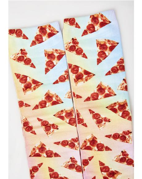 Weirdough Pizza Party Socks