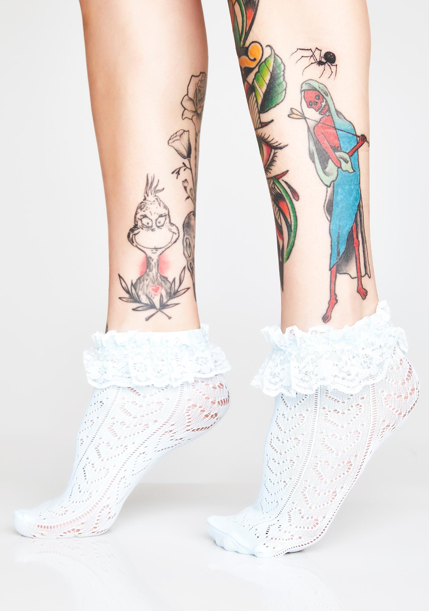 Addicted To Love Ruffle Socks