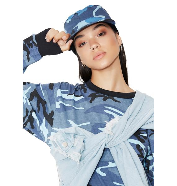 Sky Camouflage Fatigue Cap