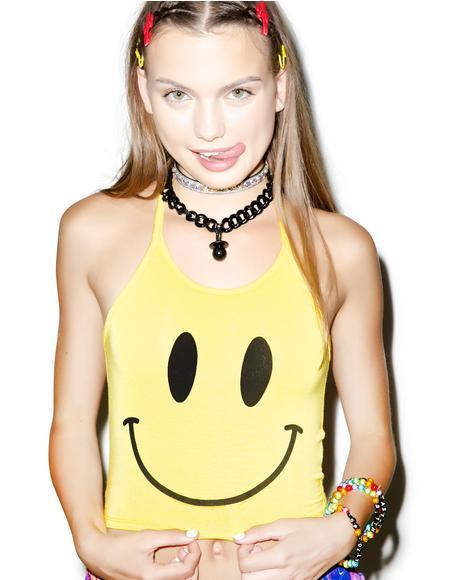 OG Smiley Halter Top