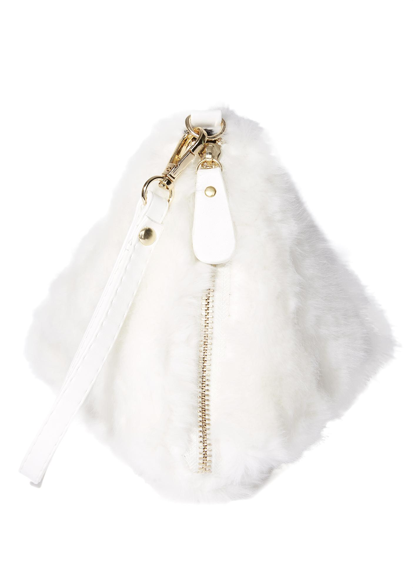 Pure Triple Threat Fuzzy Wristlet