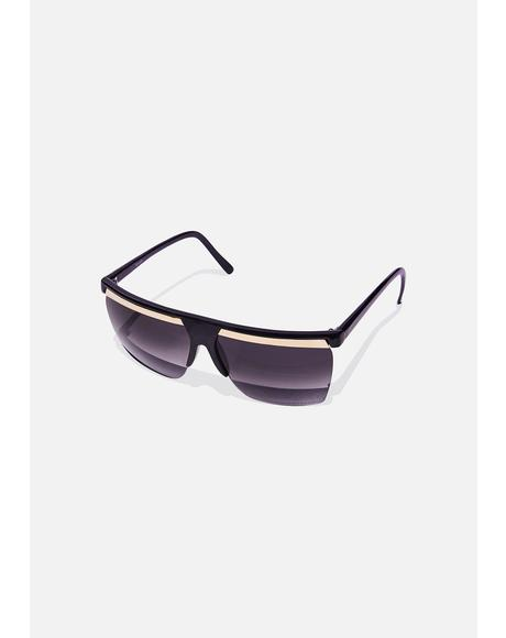 Gold Bar Shied Sunglasses