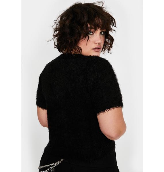 HOROSCOPEZ My Moody Moonlight Fuzzy Sweater