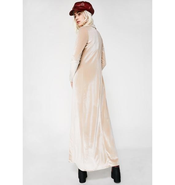Champagne Showers Trench Coat