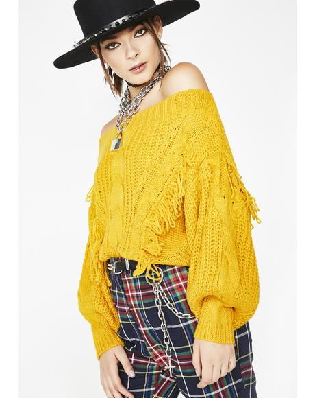 Positive Vibes Chunky Sweater