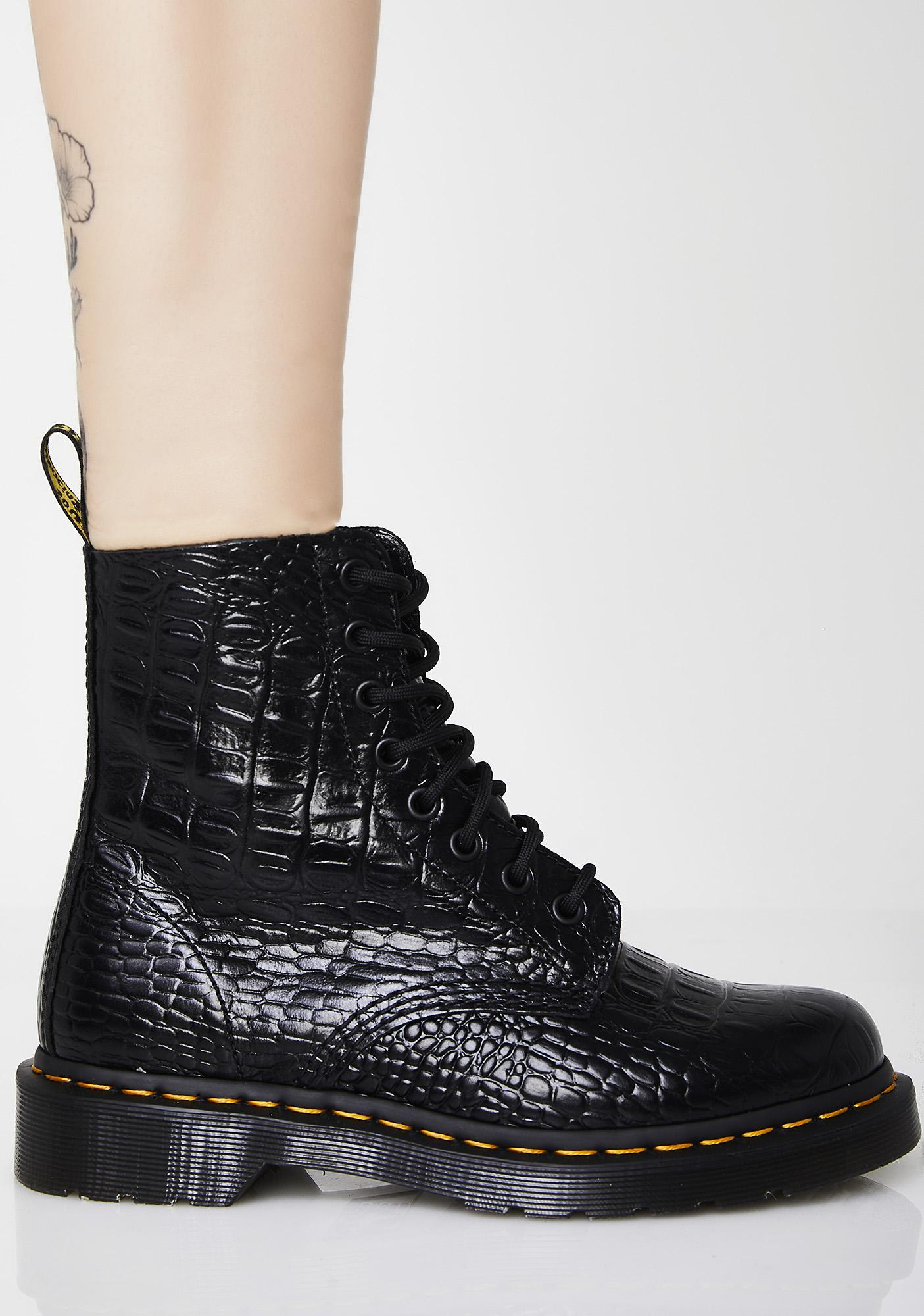 c9e2eb71ea4071 Dr. Martens Croc Pascal Boots