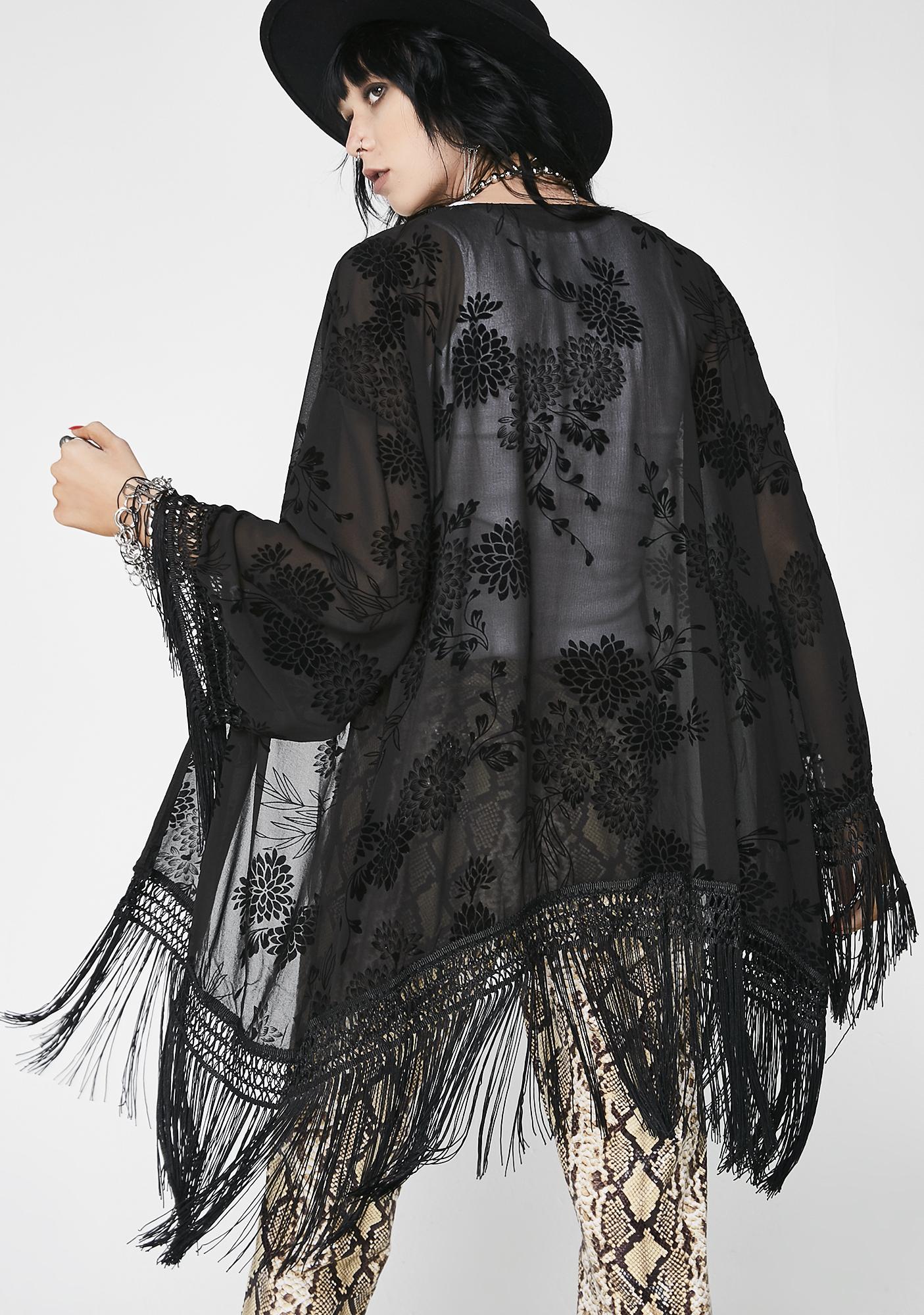 Festie Fever Sheer Kimono
